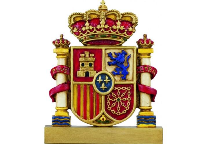 Figura escudo bandera de España color GRABADA