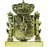 Figura escudo bandera de España oro GRABADA