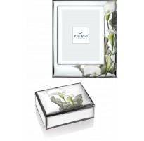 Portafotos baño PLATA DE LEY y caja baño PLATA DE LEY grabado personalizado
