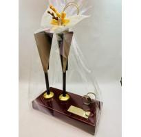 Regalo original para novios boda figura copas personalizada