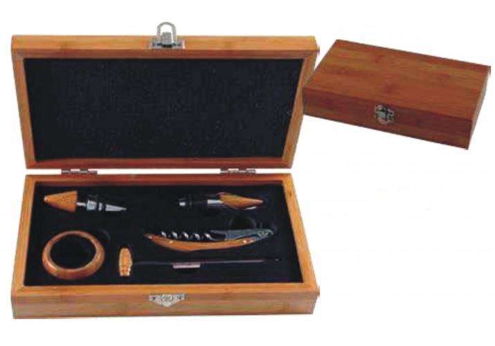 Caja con utensilios de vino GRABADO