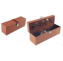 Caja con utensilios para botella de vino GRABADA