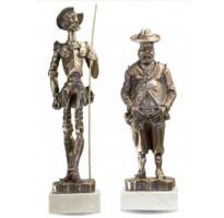 Figuras Quijote y Sancho GRABADAS grandes