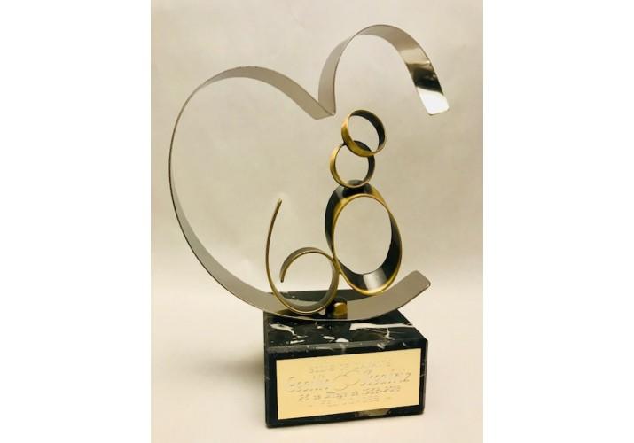 Figura Bodas de Diamante regalo 60 aniversario