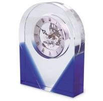 Reloj mesa cristal GRABADO azul