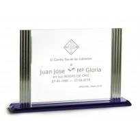 Cristal grabado alta calidad Z-20-2345 bodas de oro
