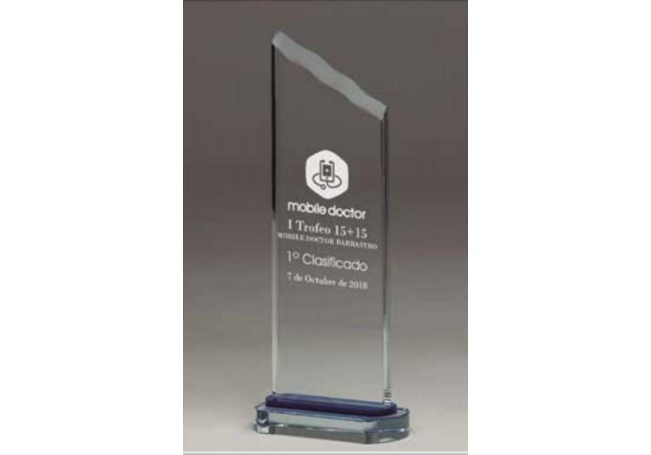 Cristal grabado alta calidad 5009 premio personalizado