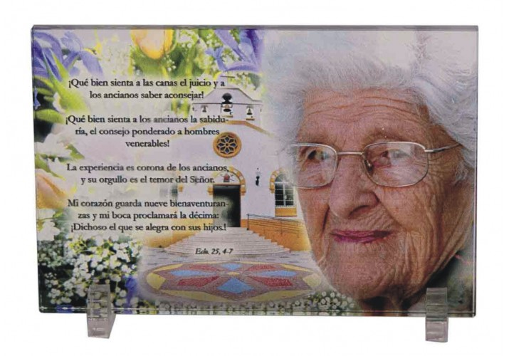 Cristal grabado 5086 regalo cumpleaños abuelo abuela