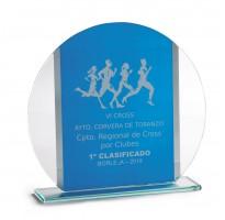 Cristal grabado Z-20-2361 premio cross carrera popular