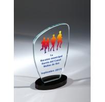Cristal grabado FS-1920-1-2-3 premios para maratón