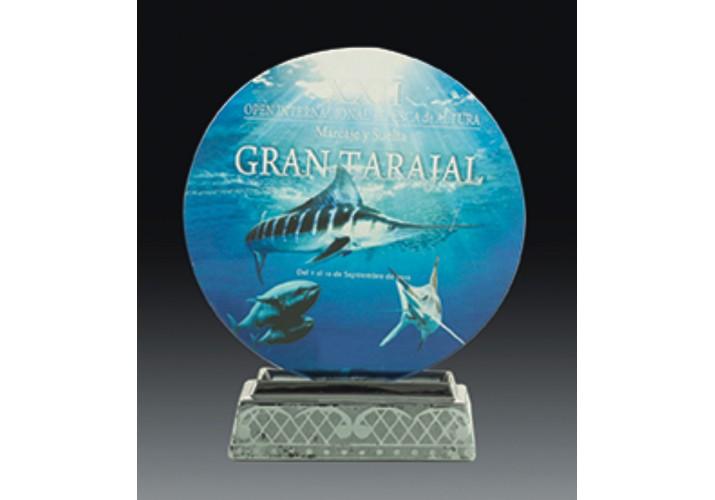 Cristal grabado 5079 personalizado con foto y dedicatoria