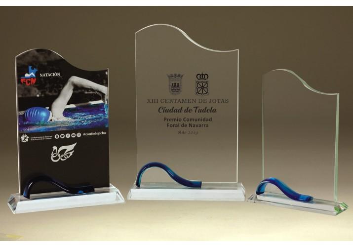 Cristal grabado 5020 premio personalizado