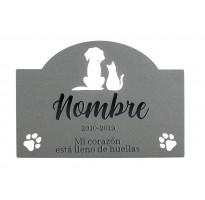 Placa grabada para muerte mascota HIERRO ap-2101
