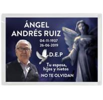Placa grabada para cementerio METACRILATO ap-0201