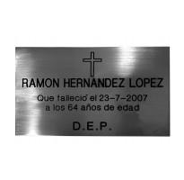 Placa grabada para cementerio ACERO INOXIDABLE ap-0106