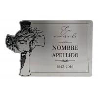 Placa grabada para cementerio ALUMINIO ap-0103
