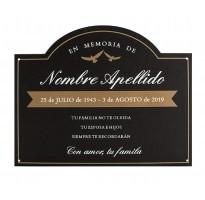 Placa grabada para cementerio HIERRO ap-0102