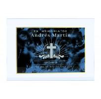 Placa grabada para cementerio METACRILATO ap-0205-2