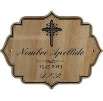 Placa grabada para cementerio PIEDRA ap-0303