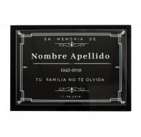 Placa grabada para cementerio METACRILATO ap-0207