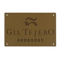 Placa grabada para empresa portal HIERRO ap-1101