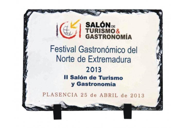 Placa de homenaje en pizarra 7083