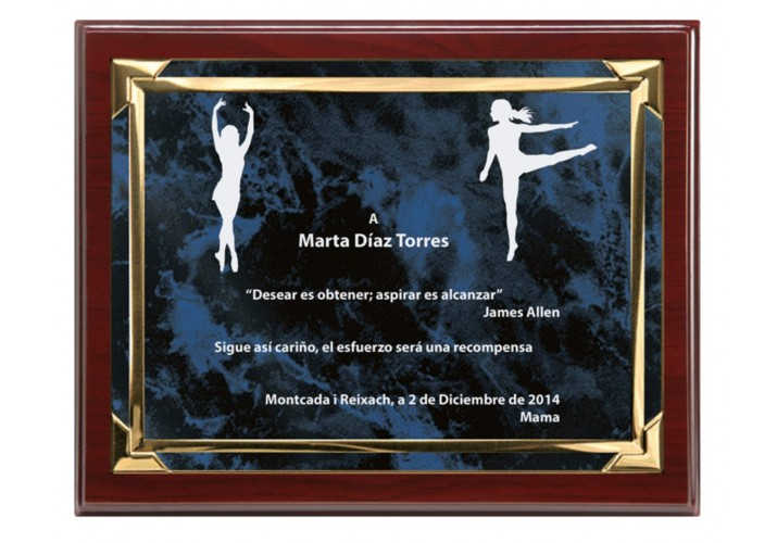 Placa conmemorativa PEQUEÑA económica FS-97-5091 personalizada