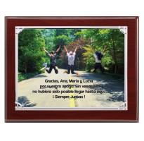Placa de homenaje económica grabada FS-185849-1-2-3+E