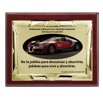 Placa de homenaje económica grabada FS-9025-1-2-3+E