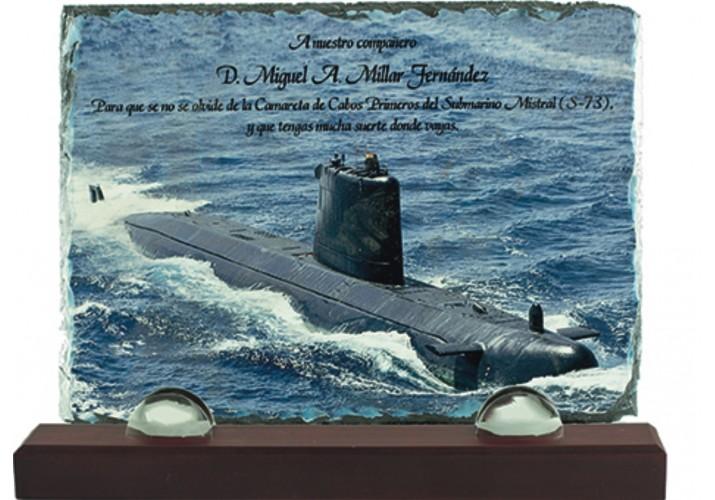 Placa de homenaje en pizarra 97059