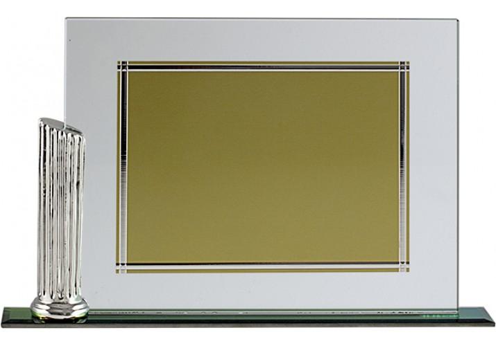 Placa de homenaje en CRISTAL 97034