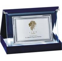 Placa de homenaje en CRISTAL 18228-7-8