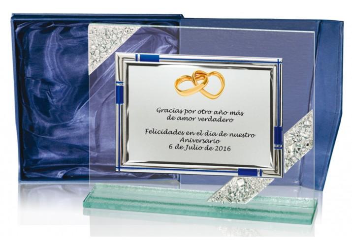 Placa conmemorativa en CRISTAL FS-9001-1-2