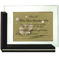 Placa de homenaje en CRISTAL 97051 agradecimiento jubilados