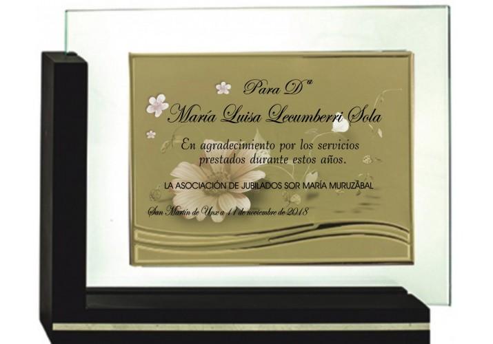 Placa de homenaje en CRISTAL 97051