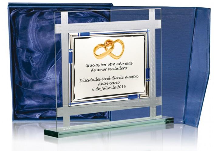 Placa conmemorativa en CRISTAL FS-90031-2