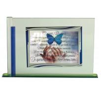 Placa de homenaje en CRISTAL 97048