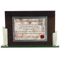Placa de homenaje en CRISTAL 97056