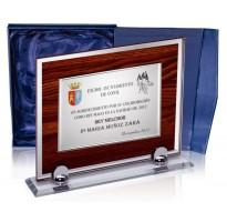 Placa conmemorativa en CRISTAL FS-176-8021-2