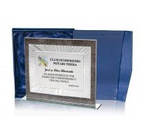 Placa conmemorativa en CRISTAL FS-96-5041-2 grabada