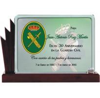 Placa de homenaje en CRISTAL 9704500