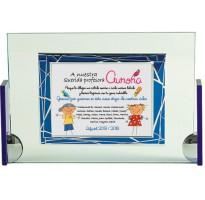 Placa de homenaje en CRISTAL 97054