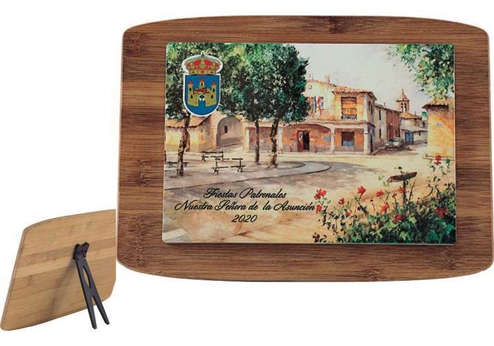 Azulejo Loseta pegada en madera 5105 regalo fiestas pueblo