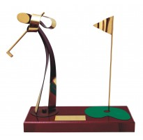 Figura Glof Golfista grabada