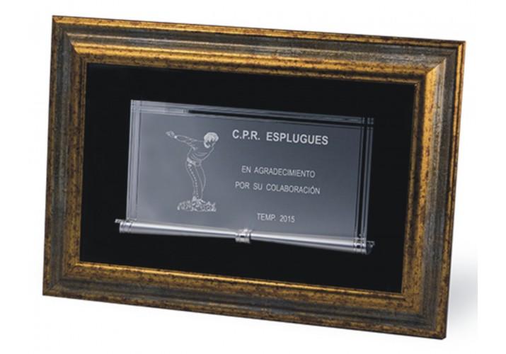 Placa conmemorativa en cuadro 16-7664