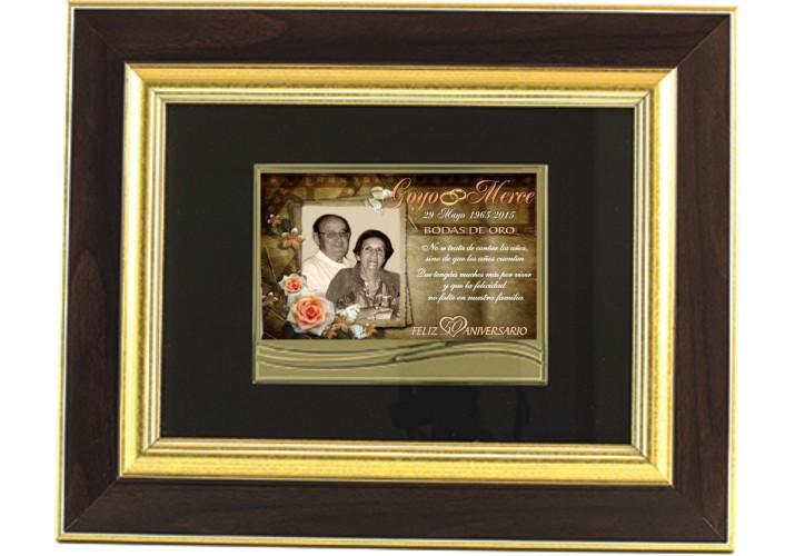 Placa homenaje enmarcada en cuadro 97250
