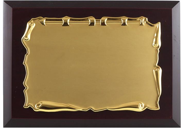 Placa de homenaje dorada grabada ALTA CALIDAD 97216