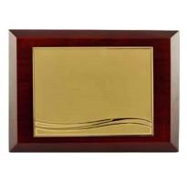 Placa de homenaje dorada personalizada 97281