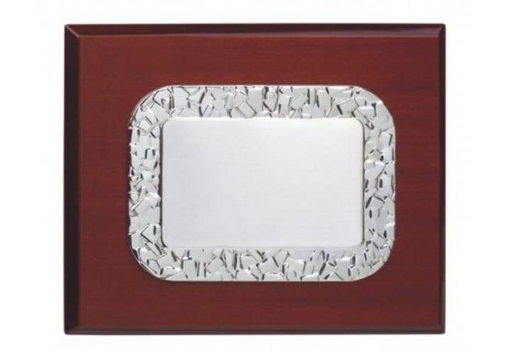 Placa de homenaje grabada PLATA DE LEY VN-220523