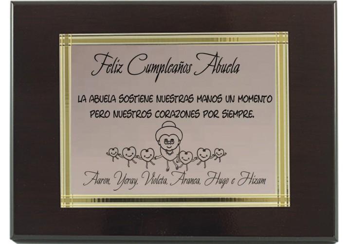 Placa de homenaje grabada BAÑO DE PLATA 97211